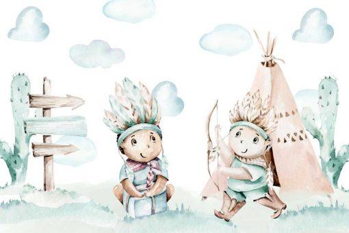 Fototapeta dla dzieci - Bajkowi Indianie