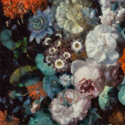 Pastelowa fototapeta - Jesienne kwiaty do jadalni