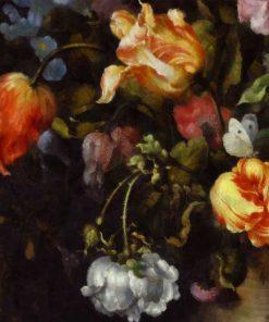 Fototapeta z motywem żółtych tulipanów do salonu