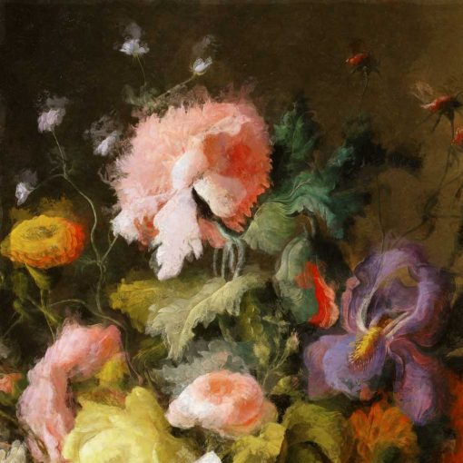 Barwna fototapeta z motywem barwnych kwiatów do kuchni