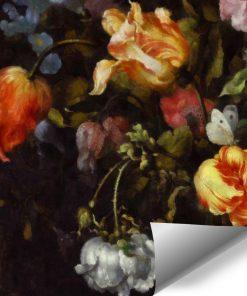 Fototapeta z motywem żółtych tulipanów do sypialni