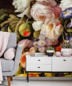 Foto-tapeta do salonu z kwiatami