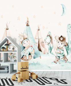 Wioska Tipi - fototapeta dla dzieci