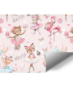 Różowa fototapeta dla dzieci - Króliczki