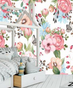 Kwiatki - Fototapeta do sypialni