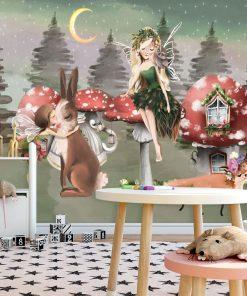 Tapeta dla dzieci z bajkowymi potaciami