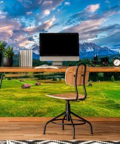 Tapeta z łąką do biura