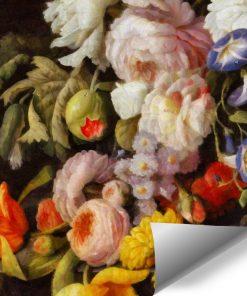 Tapeta z motywem florystycznym
