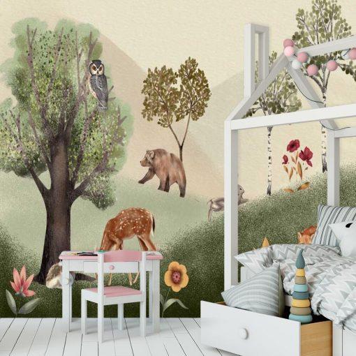 Lasek - bajkowa tapeta dla dzieci