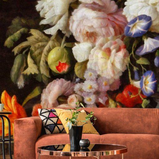 Foto-tapeta z motywem kwiatów do ozdoby salonu