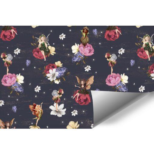 Wróżki w krainie kwiatuszków - fototapeta dla dzieci