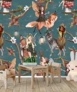 Ptaszki i Lampiony - fototapeta dla dzieci