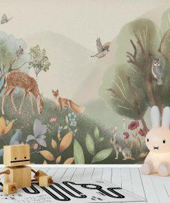 Tapeta dla najmłodszych - zwierzątka leśne
