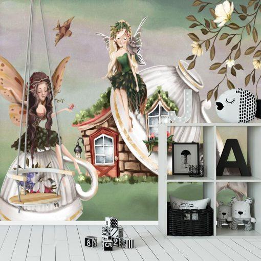 Fototapeta do dziewczęcego pokoju z motywem lasu