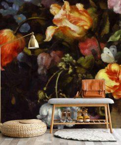 Fototapeta z motywem żółtych tulipanów do gabinetu