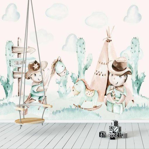 Fototapeta dla niemowląt - Bajkowy dziki zachód