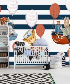 Baloniki i Marynarze - fototapeta dla dziecka