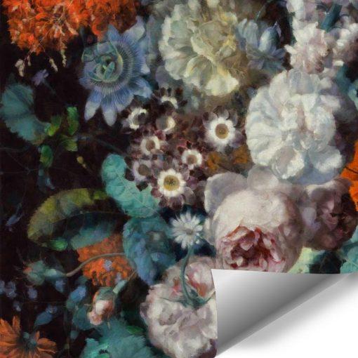 Pastelowa fototapeta - Jesienne kwiaty do salonu