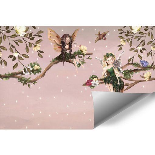 Foto-Tapeta dla dzieci elfy na gałązce