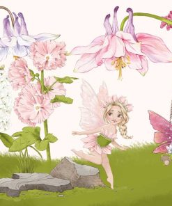 Foto-tapeta duszki kwiatowe do dekoracji żłobka