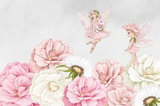Foto-tapeta kwiatowe boginki dla dziewczynki