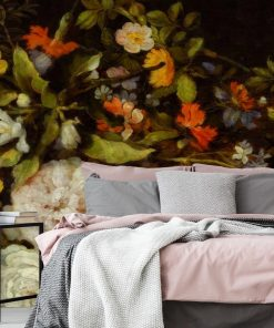 Tapeta z motywem kwiatowym do sypialni