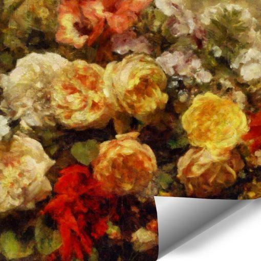 Fototapeta z różanymi dodatkami