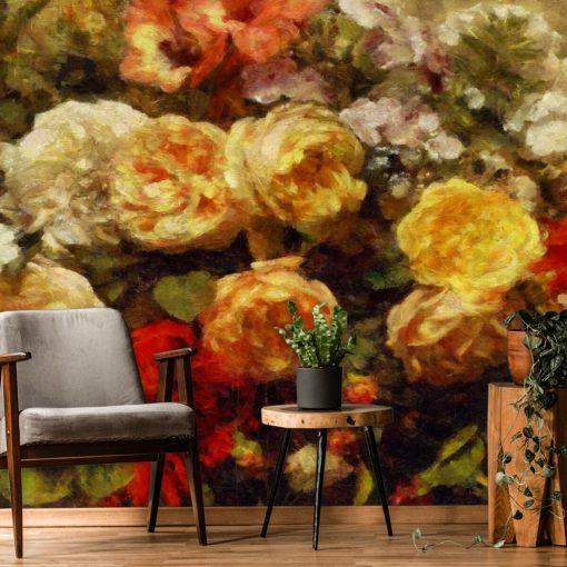 Tapeta z różami do sypialni