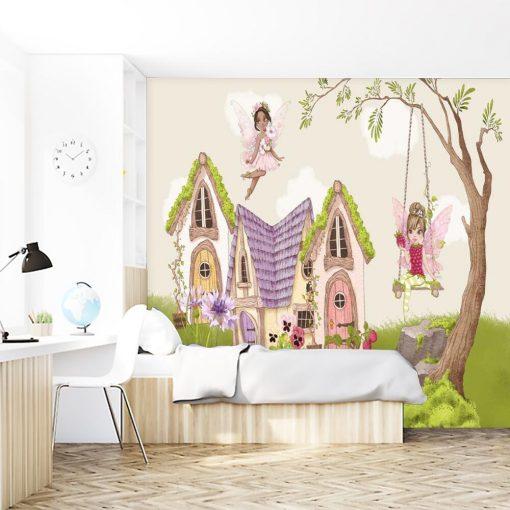 Tapeta z rusałkami do pokoju małej księżniczki