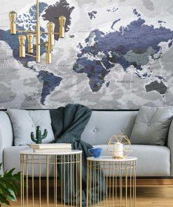 Fototapeta z polityczną mapą świata