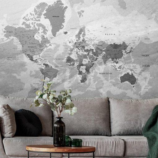 Tapeta do gabinetu z mapą świata