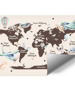 Fototapeta mapa i samoloty