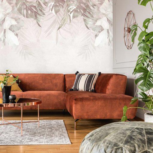 Tapeta botaniczna do dekoracji sypialni