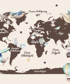 Fototapeta do żłobka z mapą świata