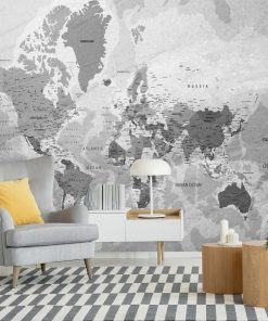 Foto-tapeta z polityczną mapą świata