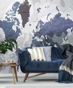 Tapeta z państwami na mapie