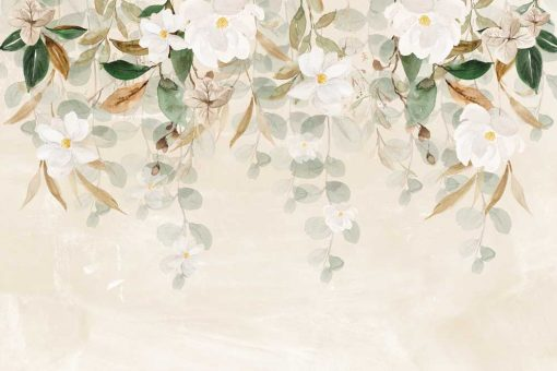 Fototapeta w białe kwiaty
