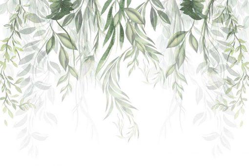 Foto-tapeta do salonu z motywem botanicznym