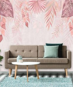 Fototapeta - różowe liście