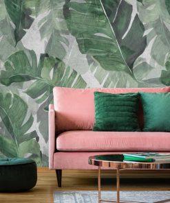 Foto-tapeta egzotyczne liście do dekoracji salonu