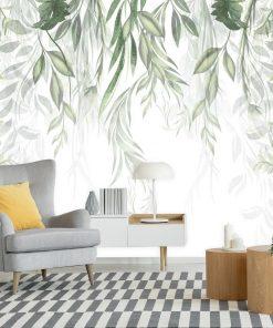 Fototapeta z roślinami do dekoracji salonu