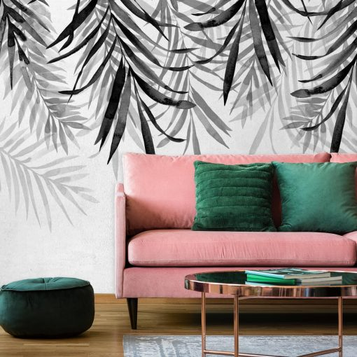 Tapeta z liśćmi palmowymi