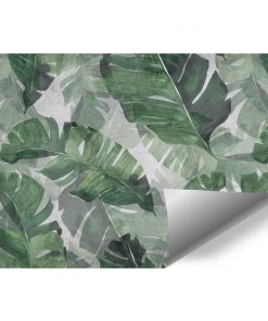 Foto-tapeta z motywem dużych liści palmowych