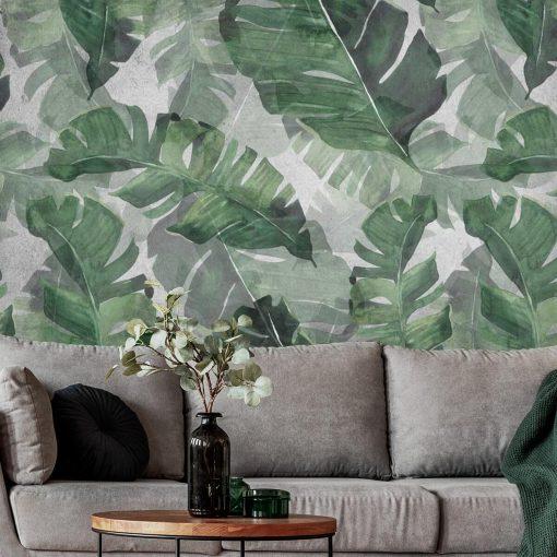 Foto-tapeta liście palmowe w zielonym kolorze