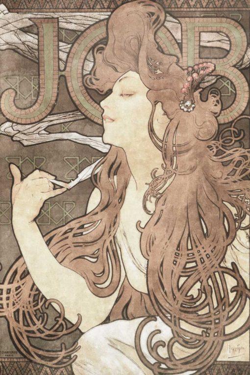 Fototapeta z reprodukcją plakatu reklamowego Alfonsa Muchy