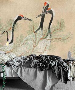 Reprodukcja dzieła Kamisaka Sekka na fototapecie