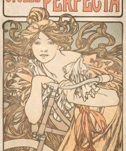 Tapeta inspirowana twórczością Alfonsa Muchy