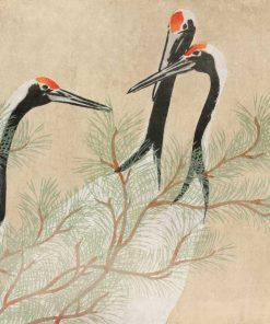 Tapeta z Żurawiami Kamisaka Sekka