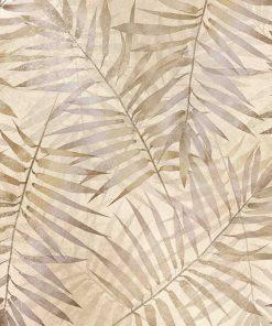 Beżowa fototapeta w palmowe liście