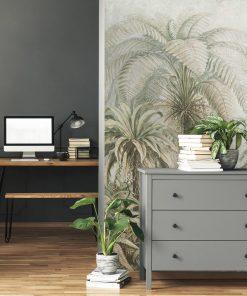 Botaniczna fototapeta z egzotycznym motywem do gabinetu